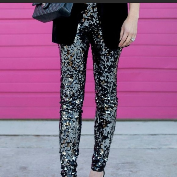 High Waisted Sequin Leggings